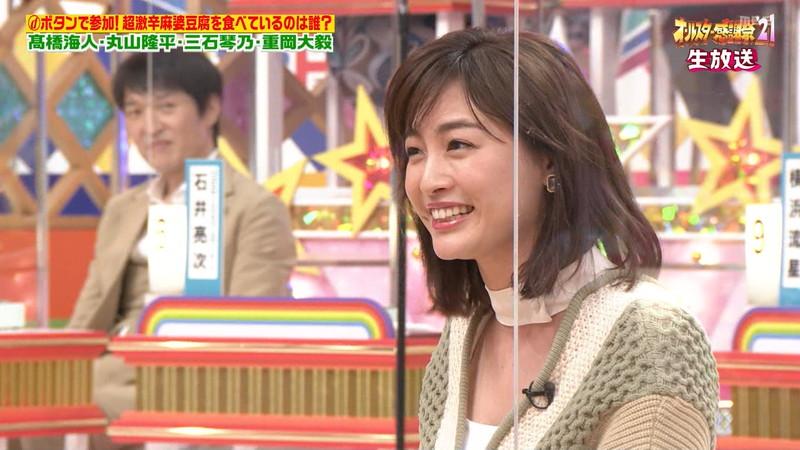 【女子アナキャプ画像】インコ大好きフリーアナウンサーの食レポとチラリw 34