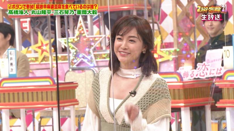 【女子アナキャプ画像】インコ大好きフリーアナウンサーの食レポとチラリw 35