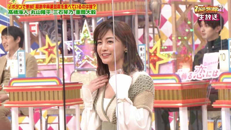 【女子アナキャプ画像】インコ大好きフリーアナウンサーの食レポとチラリw 36