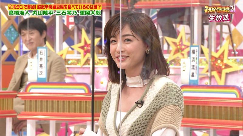 【女子アナキャプ画像】インコ大好きフリーアナウンサーの食レポとチラリw 37