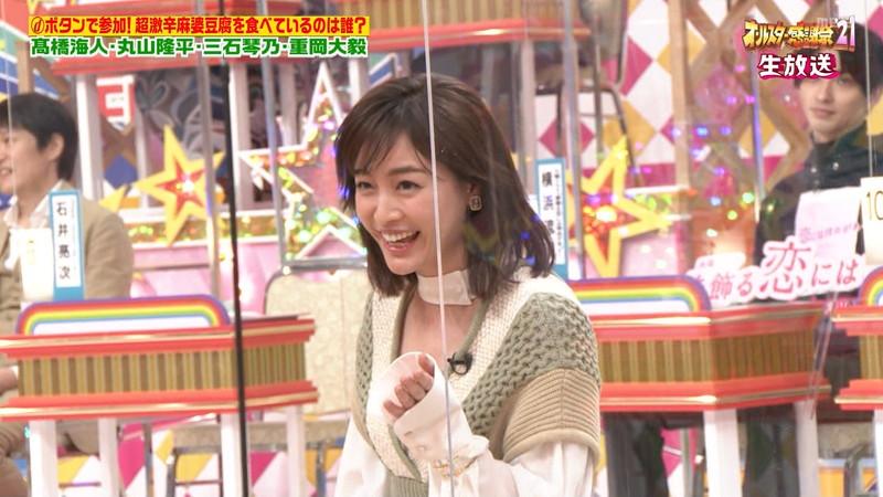 【女子アナキャプ画像】インコ大好きフリーアナウンサーの食レポとチラリw 38