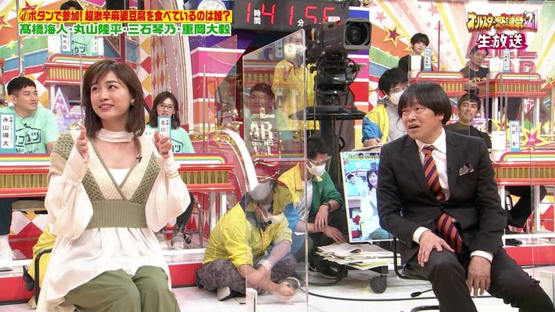 【女子アナキャプ画像】インコ大好きフリーアナウンサーの食レポとチラリw 40