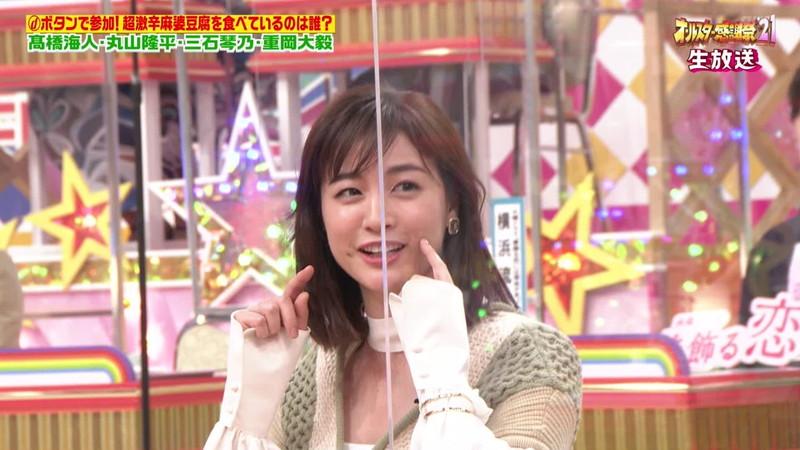【女子アナキャプ画像】インコ大好きフリーアナウンサーの食レポとチラリw 41