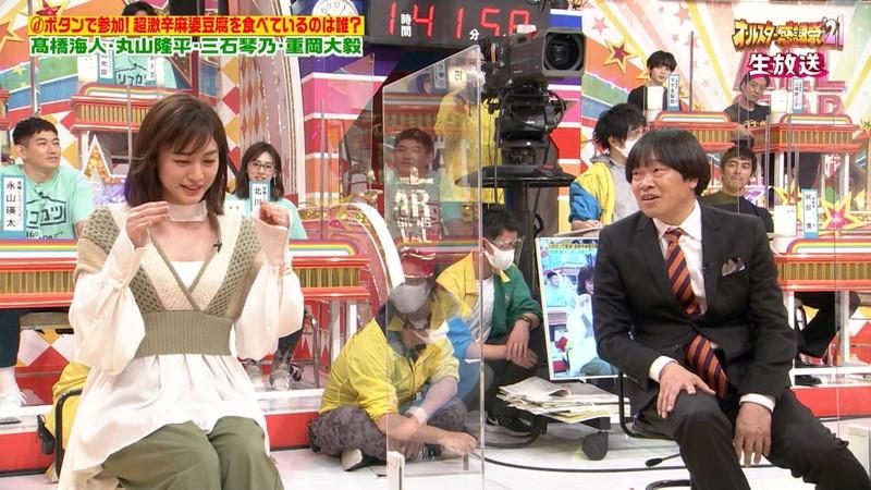 【女子アナキャプ画像】インコ大好きフリーアナウンサーの食レポとチラリw 43