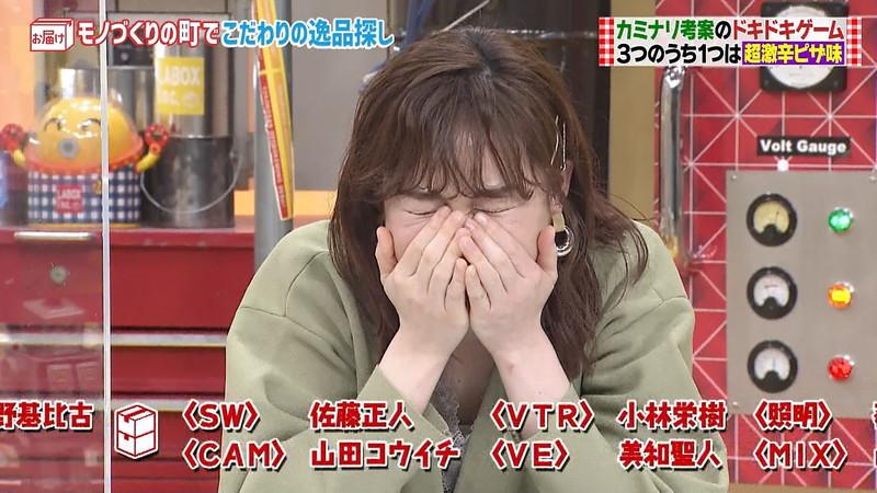 【女子アナキャプ画像】インコ大好きフリーアナウンサーの食レポとチラリw 64