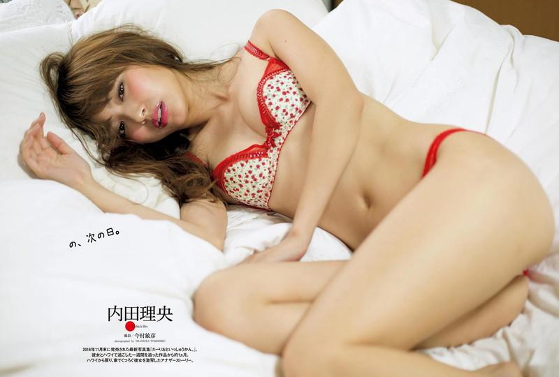 【内田理央グラビア画像】グラビア復帰したアラサー美人女優のエロボディ 04