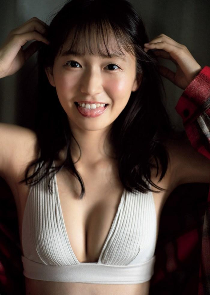 【志田音々グラビア画像】笑顔と谷間が眩しい現役女子大生グラドル! 75