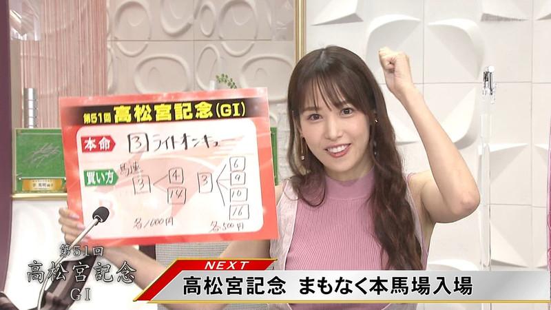 【女子アナキャプ画像】着衣オッパイや脇チラがエロいフリーアナウンサー 07