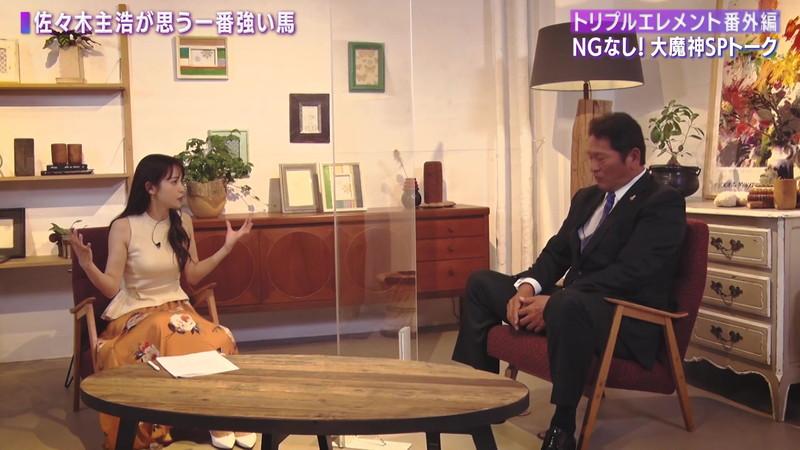 【女子アナキャプ画像】着衣オッパイや脇チラがエロいフリーアナウンサー 36