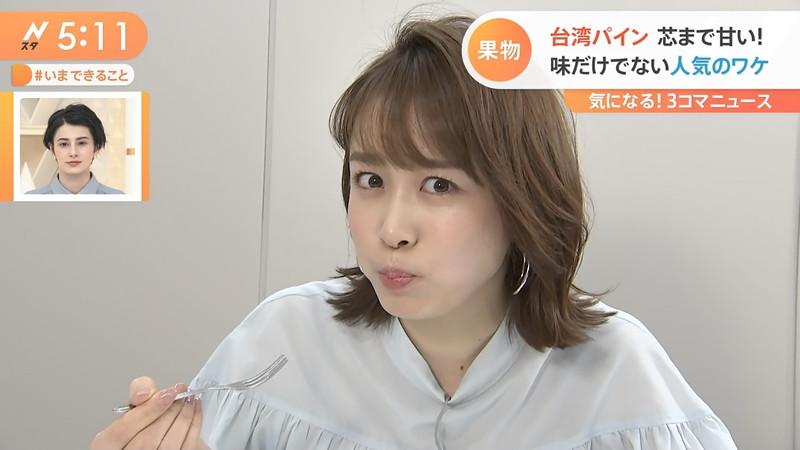 【女子アナキャプ画像】ニットおっぱいや食レボ等のちょっとエロいシーン 21