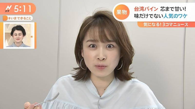 【女子アナキャプ画像】ニットおっぱいや食レボ等のちょっとエロいシーン 22