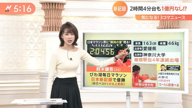 【女子アナキャプ画像】ニットおっぱいや食レボ等のちょっとエロいシーン 43