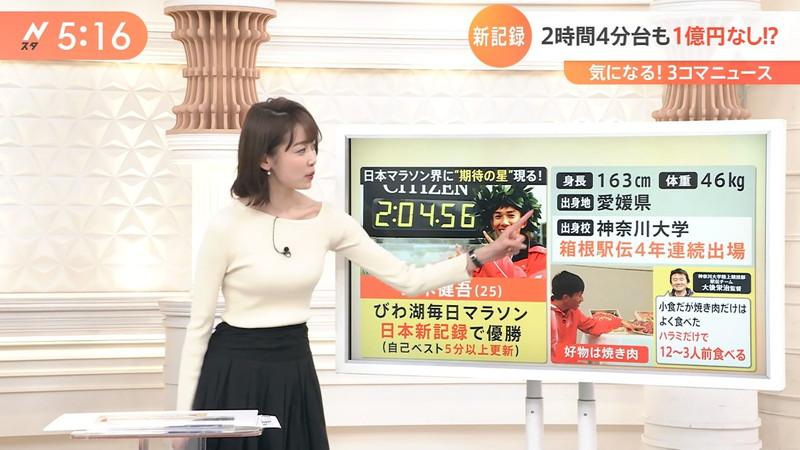 【女子アナキャプ画像】ニットおっぱいや食レボ等のちょっとエロいシーン 44