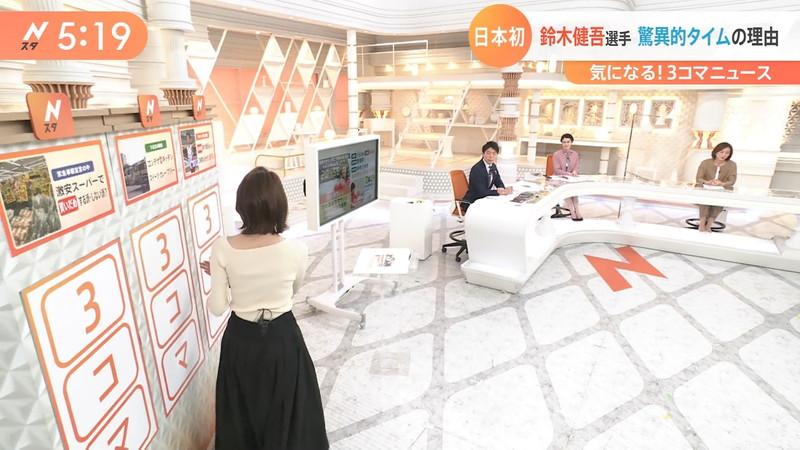 【女子アナキャプ画像】ニットおっぱいや食レボ等のちょっとエロいシーン 48