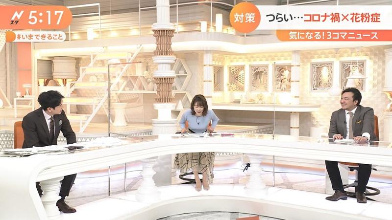 【女子アナキャプ画像】ニットおっぱいや食レボ等のちょっとエロいシーン 56