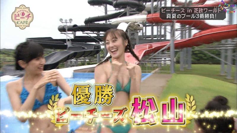 【お宝キャプ画像】テレビタレントが運動してる時に映った谷間! 71