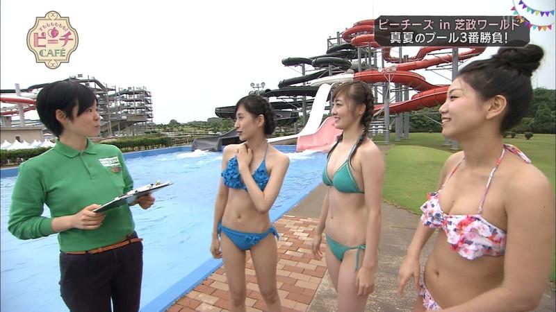 【お宝キャプ画像】テレビタレントが運動してる時に映った谷間! 72