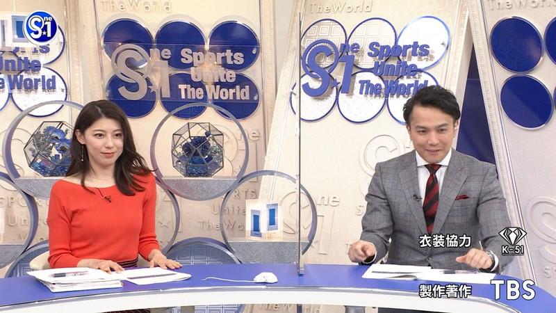 【上村彩子キャプ画像】スケスケシースルーを見せつけるエロ女子アナwwww 26