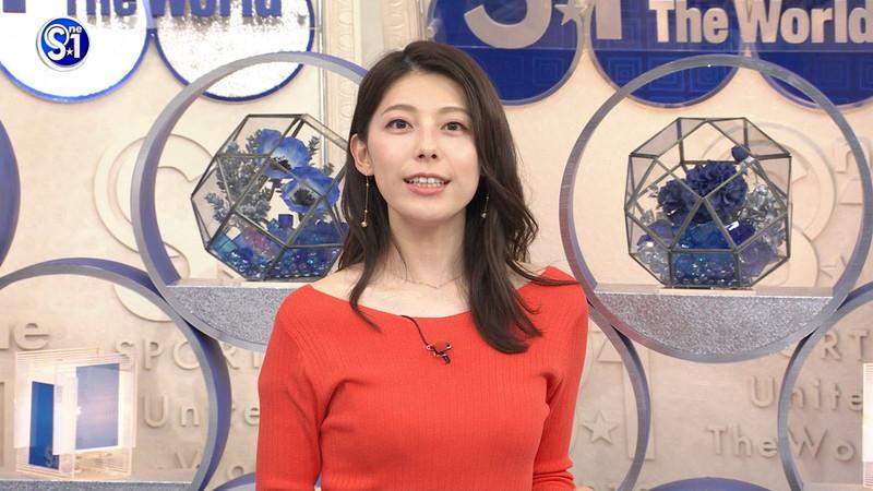 【上村彩子キャプ画像】スケスケシースルーを見せつけるエロ女子アナwwww 32