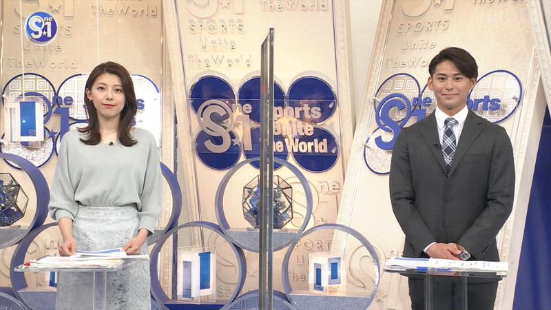 【上村彩子キャプ画像】スケスケシースルーを見せつけるエロ女子アナwwww 45