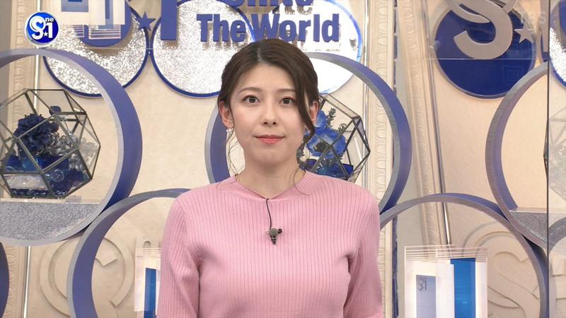 【上村彩子キャプ画像】スケスケシースルーを見せつけるエロ女子アナwwww 52
