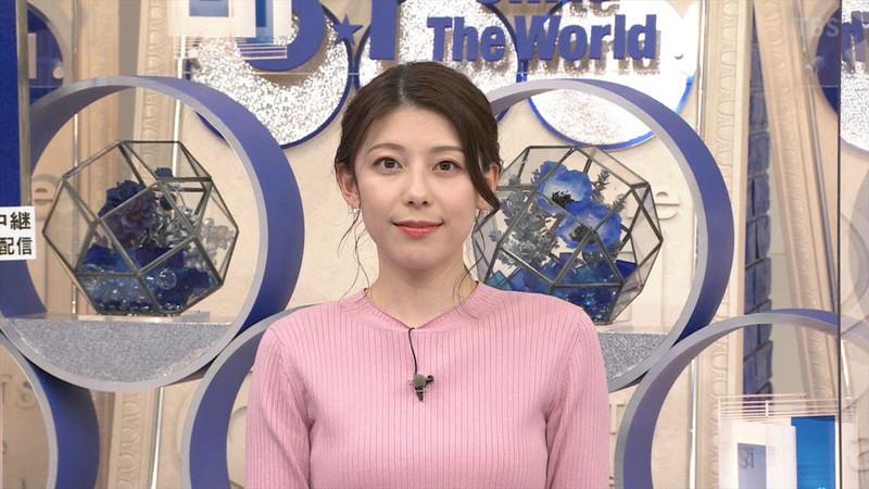【上村彩子キャプ画像】スケスケシースルーを見せつけるエロ女子アナwwww 53