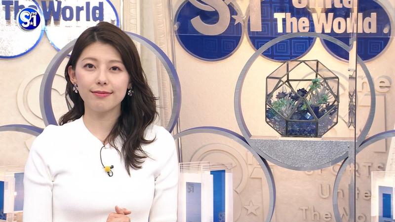 【上村彩子キャプ画像】スケスケシースルーを見せつけるエロ女子アナwwww 62