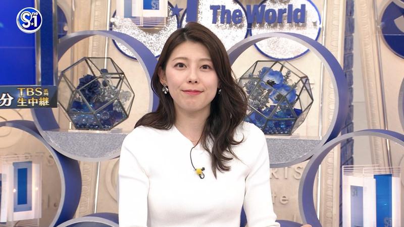 【上村彩子キャプ画像】スケスケシースルーを見せつけるエロ女子アナwwww 66