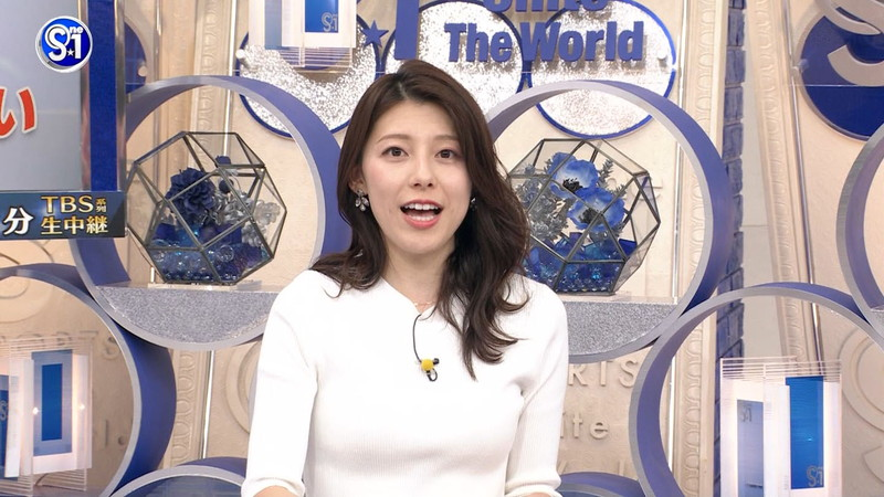 【上村彩子キャプ画像】スケスケシースルーを見せつけるエロ女子アナwwww 69