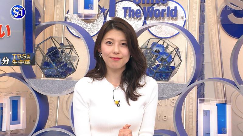 【上村彩子キャプ画像】スケスケシースルーを見せつけるエロ女子アナwwww 70