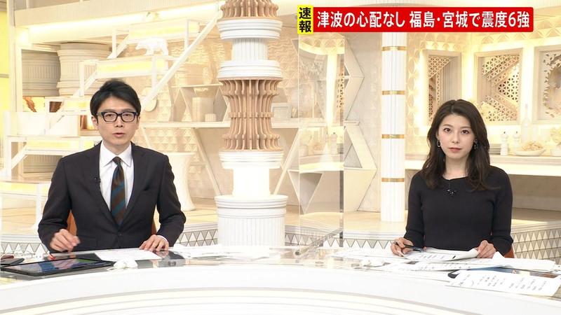 【上村彩子キャプ画像】スケスケシースルーを見せつけるエロ女子アナwwww 71
