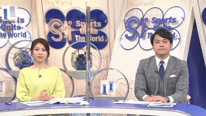 【上村彩子キャプ画像】スケスケシースルーを見せつけるエロ女子アナwwww 76