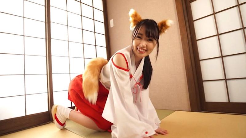 【崎川みずきキャプ画像】狐耳が可愛らしいFカップ巨乳のコスプレイヤーグラドル