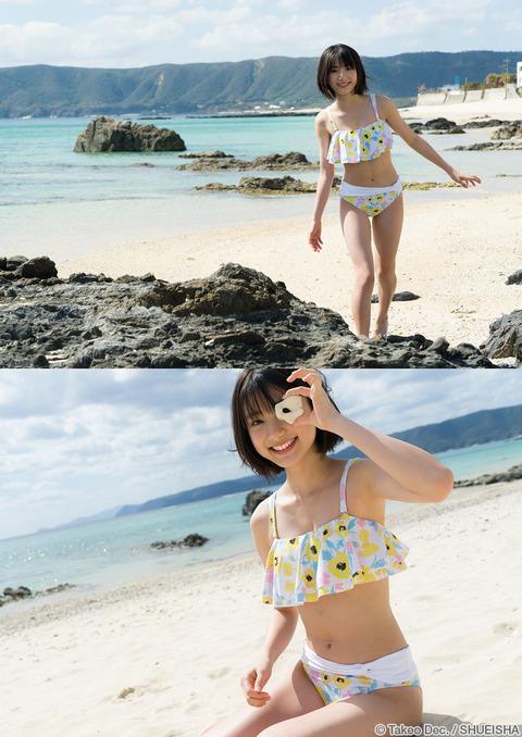 【池間夏海エロ画像】ショートカットが似合って可愛い美少女の水着姿 22