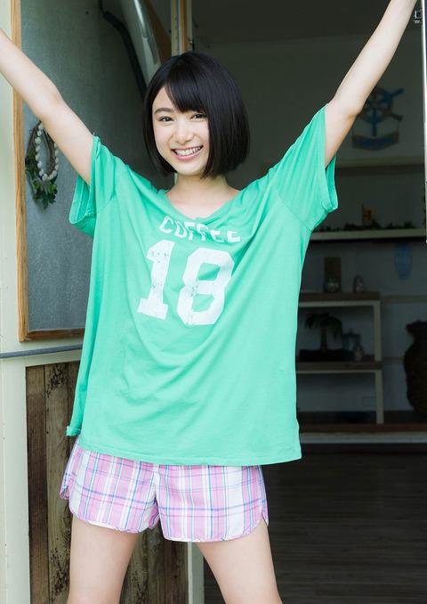 【池間夏海エロ画像】ショートカットが似合って可愛い美少女の水着姿 26