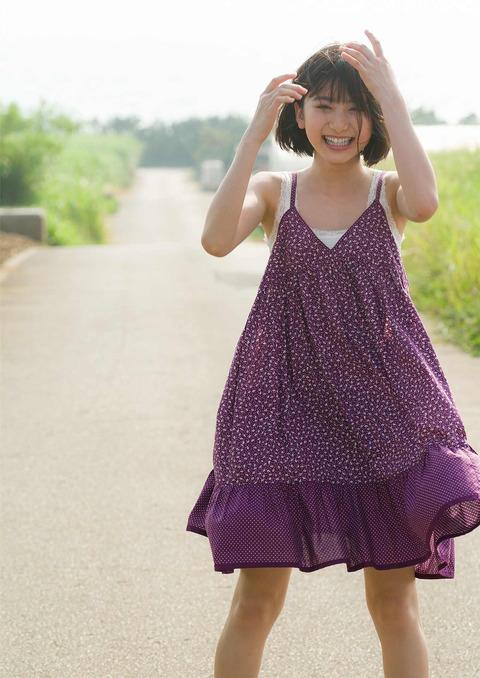 【池間夏海エロ画像】ショートカットが似合って可愛い美少女の水着姿 45