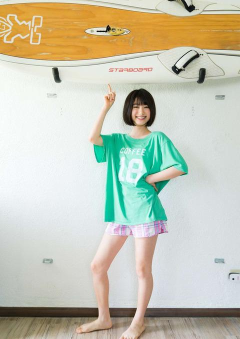 【池間夏海エロ画像】ショートカットが似合って可愛い美少女の水着姿 48
