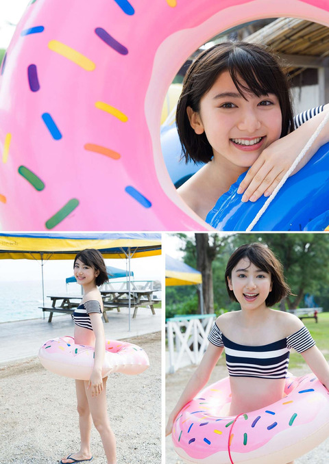 【池間夏海エロ画像】ショートカットが似合って可愛い美少女の水着姿 51