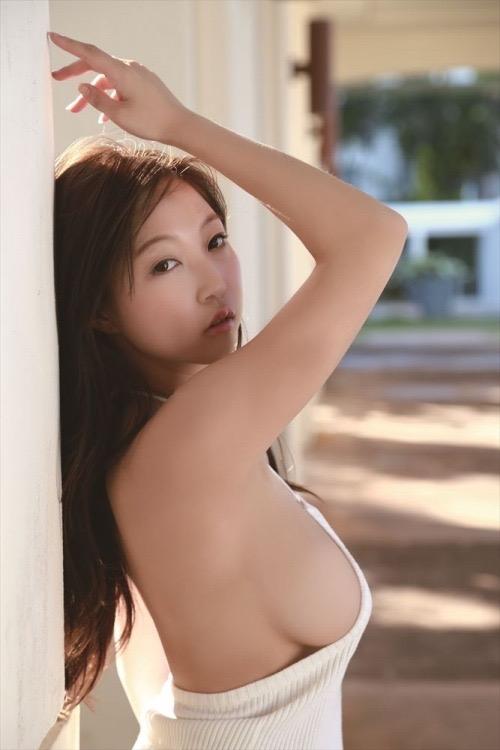 【あさいあみグラビア画像】くびれボディがエロいIカップ垂れ爆乳グラビアアイドル 57