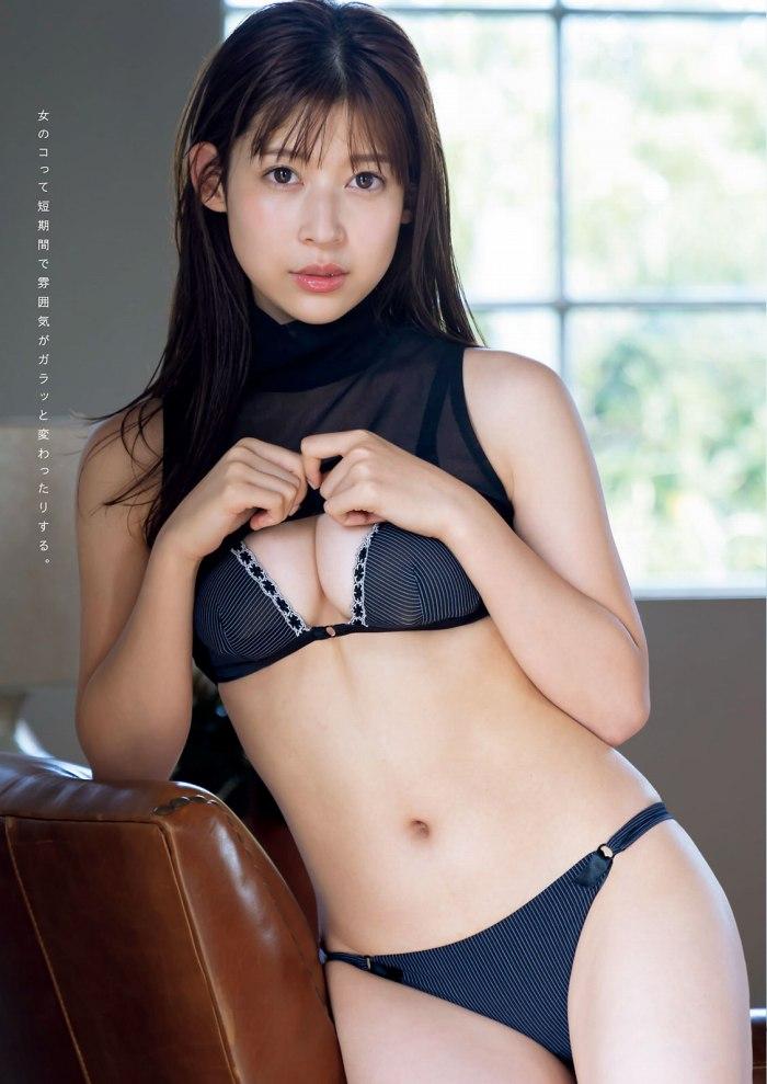 【染野有来エロ画像】コンテストグランプリ美少女のビキニ谷間! 52