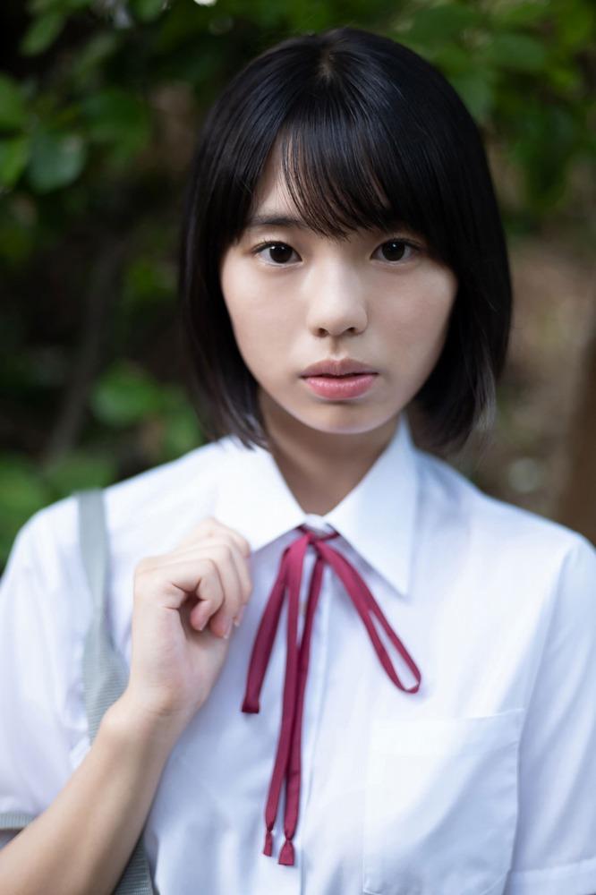 【菊池姫奈グラビア画像】素朴な感じの美少女感が可愛らしい現役女子校生 56