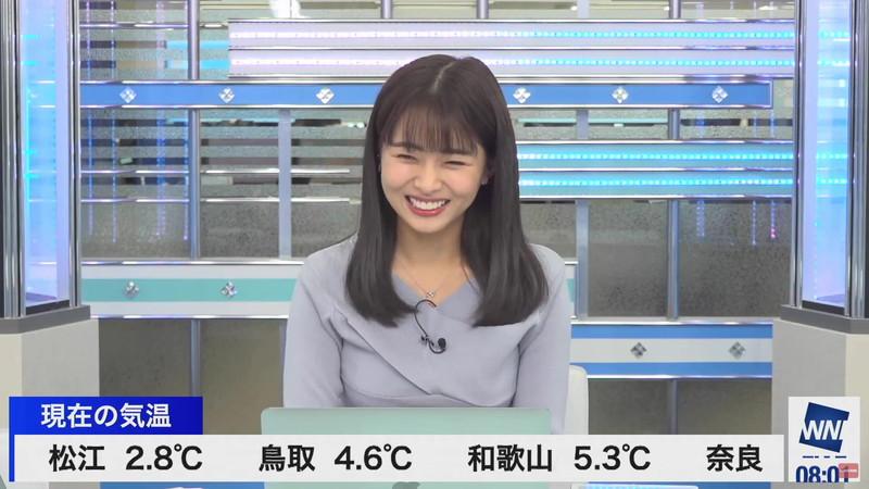 【女子アナキャプ画像】お天気お姉さんのニットおっぱい! 03