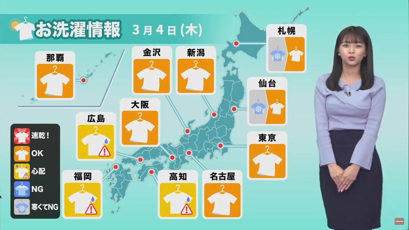 【女子アナキャプ画像】お天気お姉さんのニットおっぱい! 04