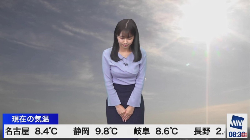 【女子アナキャプ画像】お天気お姉さんのニットおっぱい! 07