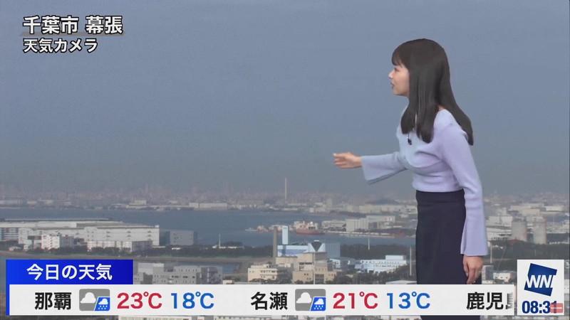 【女子アナキャプ画像】お天気お姉さんのニットおっぱい! 09