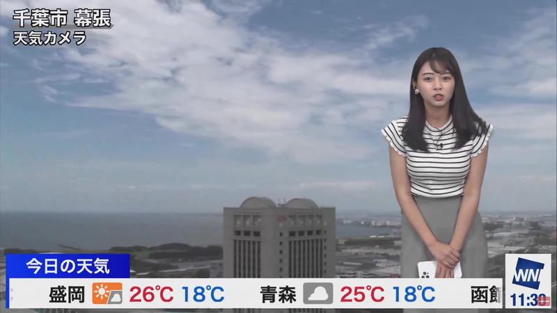 【女子アナキャプ画像】お天気お姉さんのニットおっぱい! 18