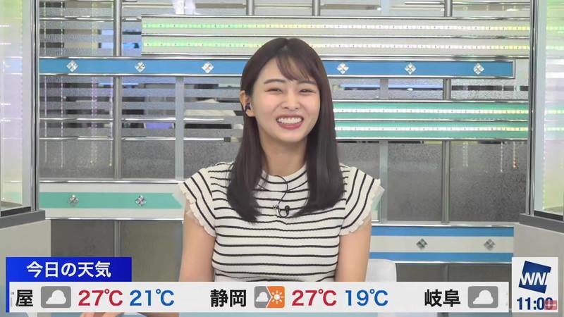 【女子アナキャプ画像】お天気お姉さんのニットおっぱい! 19