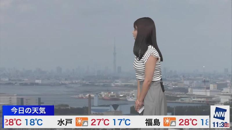 【女子アナキャプ画像】お天気お姉さんのニットおっぱい! 24