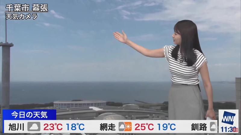 【女子アナキャプ画像】お天気お姉さんのニットおっぱい! 25
