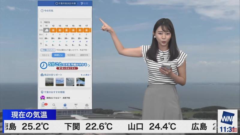 【女子アナキャプ画像】お天気お姉さんのニットおっぱい! 26